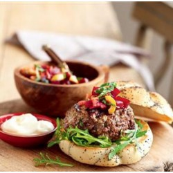 Greek Burger with Beetroot Relish